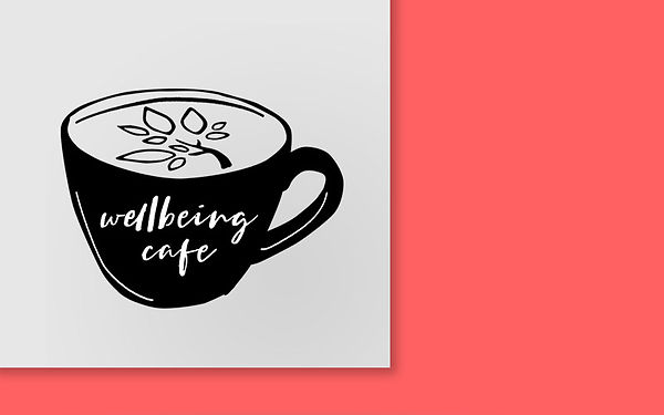 Wellbeing Cafe logo branding design