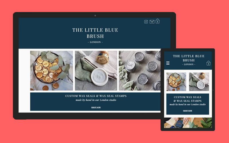 The Little Blue Brush website design