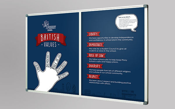 British Values school poster display design