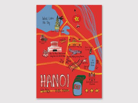 Illustrated map of Hanoi