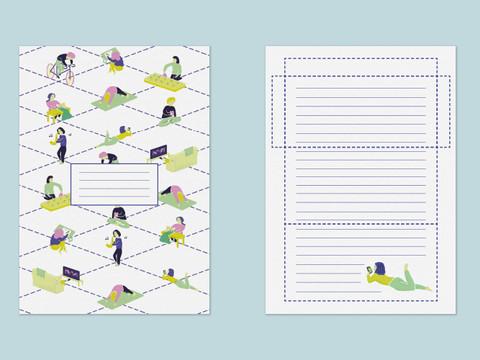 Social Distancers letter set print out.j
