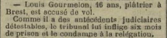 Gourmelon Louis Marie caouissin brest bagne guyane bagnard finistere pleyber christ