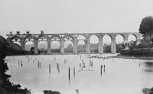 Viaduc Kerhuon plouguin patrimoine histoire tailleur pierre granit