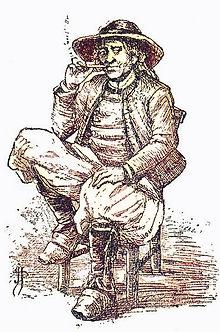 Dessin d'un paysan breton (par Jos Parke