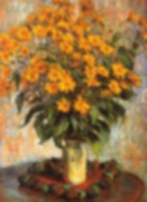 Fleurs de topinambours Claude Monet 1880