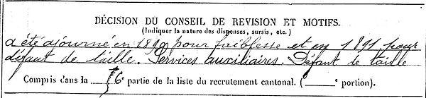 conan jean herve langolen eu 14-18 Finistère Non Mort France Réformé maladie tuberculose suicide fusillé accident