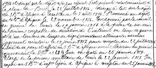 14-18 Finistère Non Mort France Réformé maladie tuberculose suicide fusillé accident