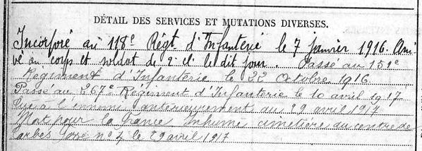 Quere Yves Porspoder Guerre 1914 1918 14-18 Finistère Finistérien Mort pour la France Berry au Bac cote 108 Sapigneul Choléra Moscou Mauchamp