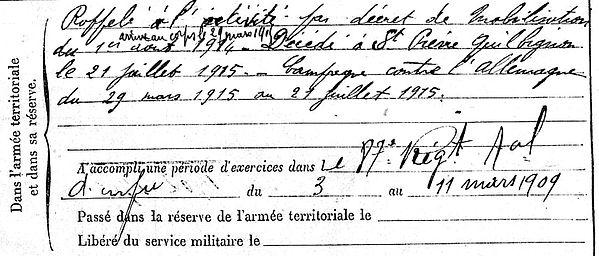 colin louis marie brest saint pierre quilbignon 14-18 Finistère Non Mort France Réformé maladie tuberculose suicide fusillé accident
