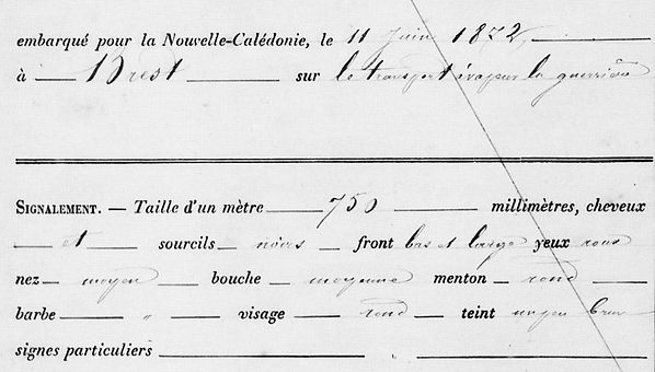 Kuel Jules Marie brest communard commune paris bagne nouvelle caledonie