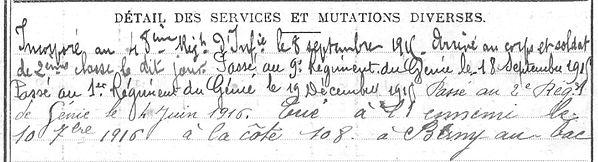 Le Bras François Marie Hanvec Guerre 1914 1918 14-18 Finistère Finistérien Mort pour la France Berry au Bac cote 108 Sapigneul Choléra Moscou Mauchamp