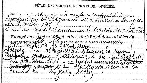jegou yves locunole brenelle 14-18 Finistère Non Mort France Réformé maladie tuberculose suicide fusillé accident