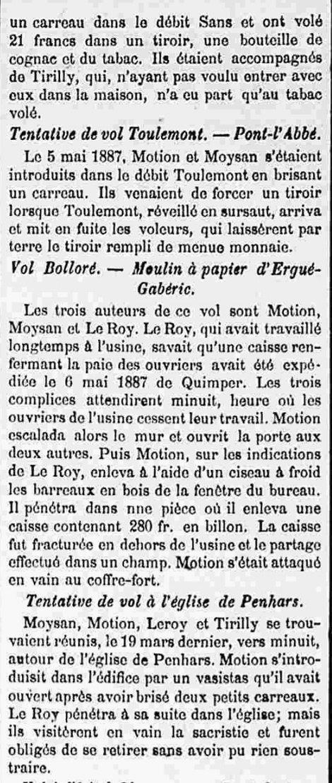 moysan chipon cotten tirilly roy Motion Pierre Louis quimper bagne guyane
