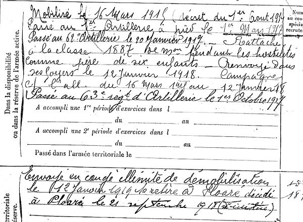 tanter rene yves marie plore 14-18 Finistère Non Mort France Réformé maladie tuberculose suicide fusillé accident