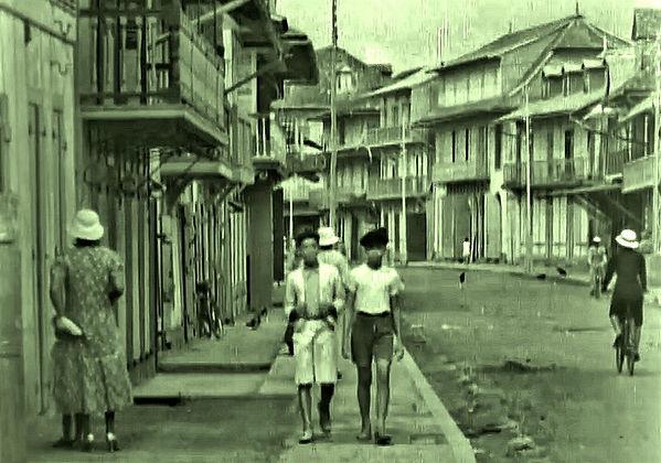 street scene in Cayenne, French Guiana -
