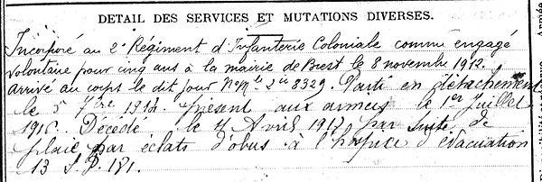 Michel Louis Lampaul ploudalmezeau patrick milan anne appriou guerre 1914 1917 14 18 patrimoine histoire plouguin finistere