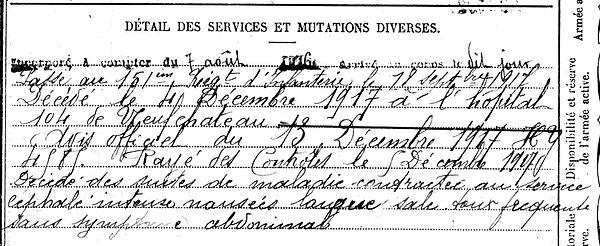 landrein ernest pierre bannalec neuf chateau 14-18 Finistère Non Mort France Réformé maladie tuberculose suicide fusillé accident