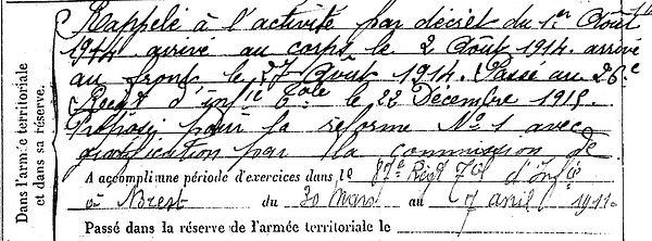 can yves marie locmaria plouzane 14-18 Finistère Non Mort France Réformé maladie tuberculose suicide fusillé accident