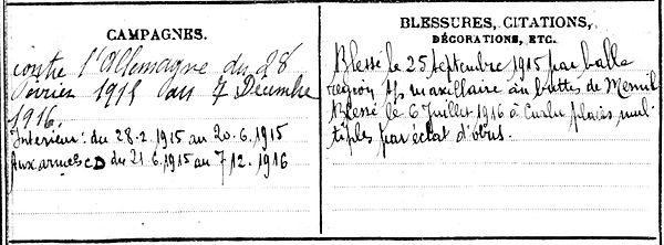 le moine charles scaer buttes mesnil curlu troyes 14-18 Finistère Non Mort France Réformé maladie tuberculose suicide fusillé accident
