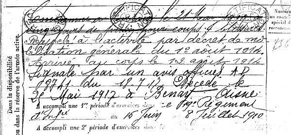mesguen jean marie plougoulm benay 14-18 Finistère Non Mort France Réformé maladie tuberculose suicide fusillé accident
