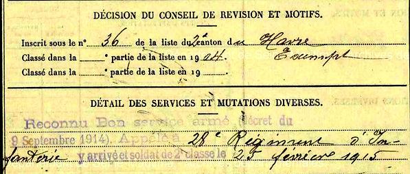 le saux françois marie landivisiau caen 14-18 Finistère Non Mort France Réformé maladie tuberculose suicide fusillé accident