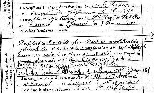 le diguer jean marie françois plouigneau saint pons desgenettes lyon 14-18 Finistère Non Mort France Réformé maladie tuberculose suicide fusillé accident
