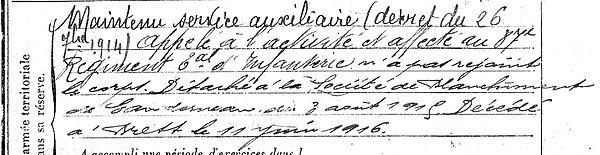 benez pirre sant vugay landernau brest 14-18 Finistère Non Mort France Réformé maladie tuberculose suicide fusillé accident