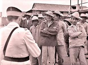 Prisoner roll call, Devil's Island 1939_