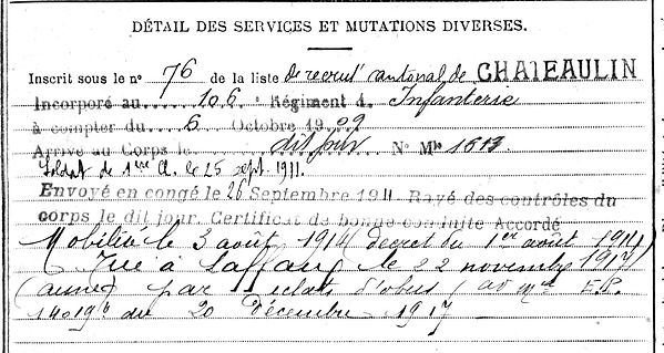 mevel etienne joseph brest laffaux 14-18 Finistère Non Mort France Réformé maladie tuberculose suicide fusillé accident