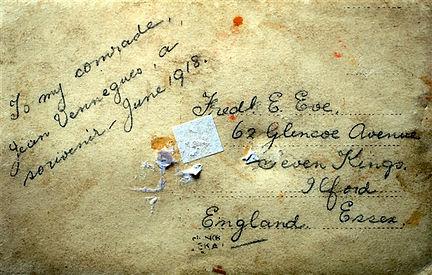 Eve Fred E Essex England Treouergat plouguin patrimoine histoire guerre 1914 1918 paris patrick milan