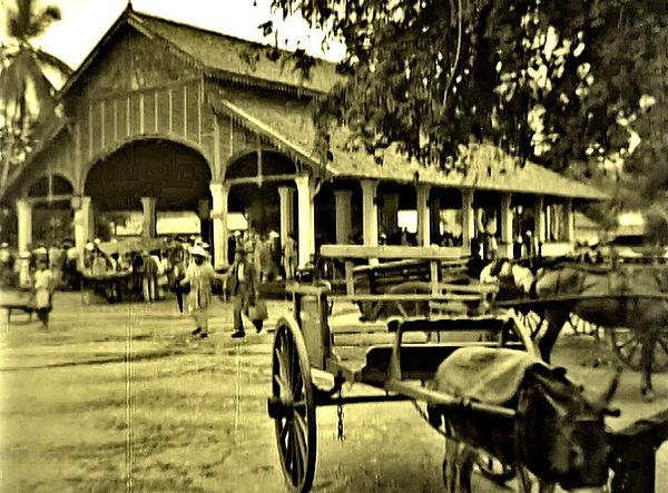 City market in Cayenne, French Guiana -