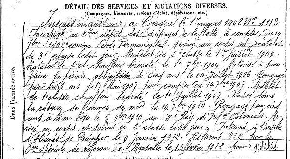 grall françois marie ploumoguer quimper havre 14-18 Finistère Non Mort France Réformé maladie tuberculose suicide fusillé accident