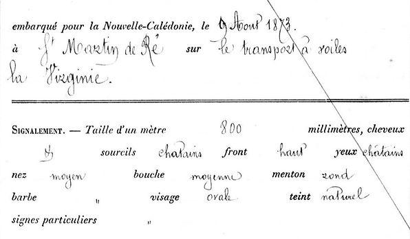 Passedouet Auguste Jules brest communard commune paris bagne nouvelle caledonie