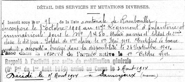 leroy yves landrevarzec samogneux 14-18 Finistère Non Mort France Réformé maladie tuberculose suicide fusillé accident