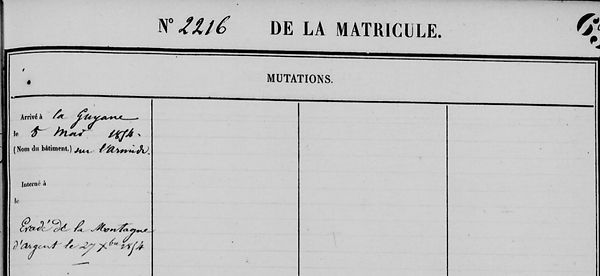 Bodilis Jean Marie landivisiau locmelar bagne guyane evade bagnard