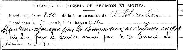 querne louis rene saint pol leon quennevieres 14-18 Finistère Non Mort France Réformé maladie tuberculose suicide fusillé accident