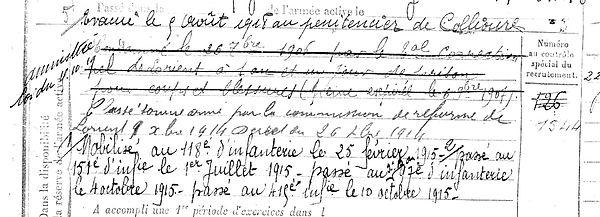 rouille mathurin guilligomarch collioure montbrison 14-18 Finistère Non Mort France Réformé maladie tuberculose suicide fusillé accident