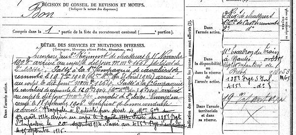 Abgrall Yves Marie Plougourvest Eparges Guerre 14-18 Finistère Non Mort France Réformé maladie tuberculose suicide fusillé accident