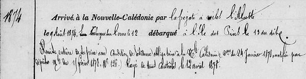Cauden Jean Guillaume communard commune paris bannalec finistere bagne nouvelle caledonie