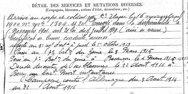 Lagadec François Marie Botmeur Guerre 1914 1918 14-18 Finistère Finistérien Mort pour la France Berry au Bac cote 108 Sapigneul Choléra Moscou Mauchamp