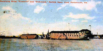 Receiving Ships Franklin and Richmond at