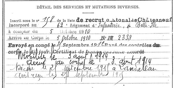Allain Emile Marie Pleyber Christ Morlaix Guerre 14-18 Finistère Non Mort France Réformé maladie tuberculose suicide fusillé accident