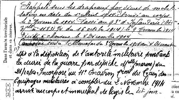 carn eugene ferdinand brest amiens 14-18 Finistère Non Mort France Réformé maladie tuberculose suicide fusillé accident
