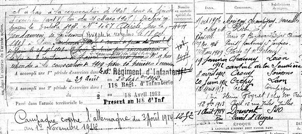 Kevarec Yvon Marie Vincent Gourbizou Guerre 1914 1918 14-18 Finistère Finistérien Mort pour la France Berry au Bac cote 108 Sapigneul Choléra Moscou Mauchamp