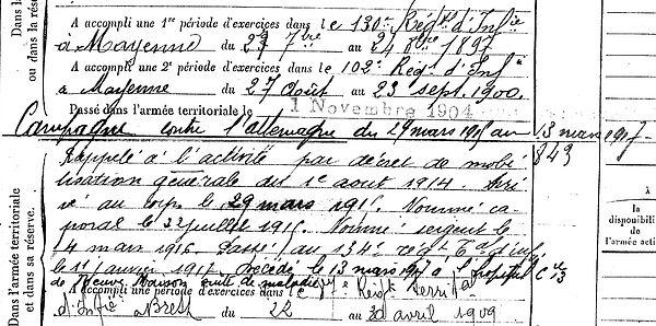 gueguen christophe plabenne neuve maison 14-18 Finistère Non Mort France Réformé maladie tuberculose suicide fusillé accident