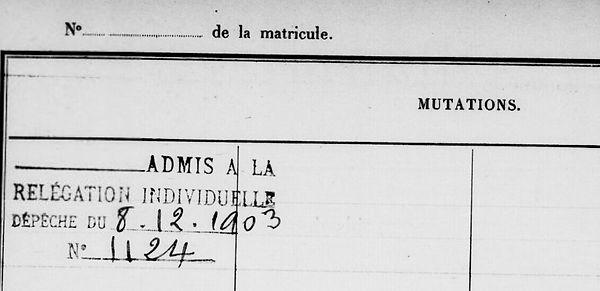 Maurice Joseph Emile troadec lambezellc brest bagne guyane bagnard choqueur finistere