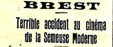 plouguin patrimoine patrick milan histoire guerre 14 18 1914 1918 treouergat lampaul ploudalmézeau finistere marin poilu 87 RIT accident semeuse moderne cinema
