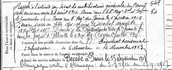 berthou alain marie plougonven abbevill auchel mines paris 14-18 Finistère Non Mort France Réformé maladie tuberculose suicide fusillé accident