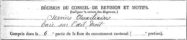 le du corentin marie scaer quimper 14-18 Finistère Non Mort France Réformé maladie tuberculose suicide fusillé accident