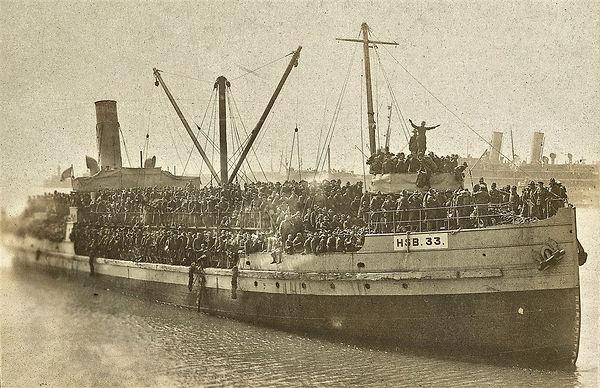 troops sailor agamemnon US ship WWI war guerre 14 18 1914 1918 george lane silver spring maryland patrick milan finistere brest aberwrach